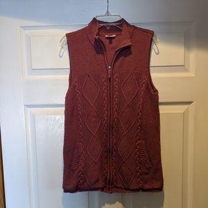 Talbots knitted vest